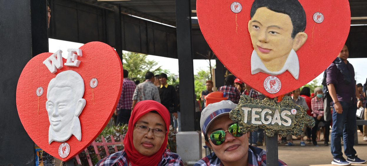 Indonesian supporters of Jakarta's former governor Basuki Tjahaja Purnama gather at a park to celebrate his release from prison in Jakarta on 24 January, 2019, nearly two years after his blasphemy conviction. (Photo: Adek BERRY /AFP)