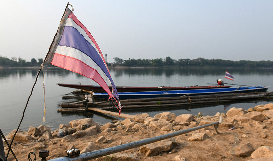 A picture of the Mekong river in the northern Thai region of Nong Khai, bordering Laos