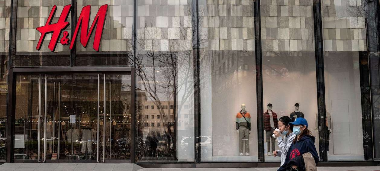 H&M has been under fire in China after Chinese social media dug up an old statement in which the company said it would not source cotton from Xinjiang over alleged forced labour in the far west region. (Photo by Nicolas ASFOURI/ AFP)