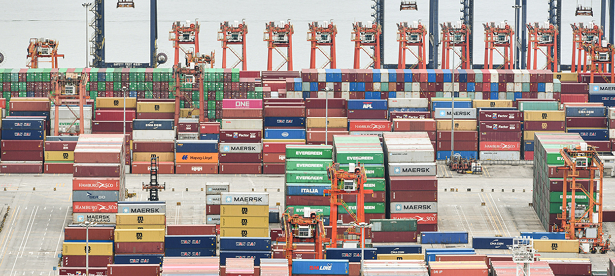 Cargo containers stacked at Yantian port