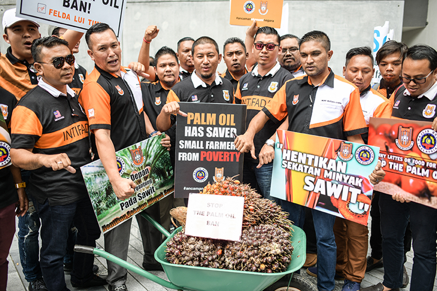 Malaysian palm oil farmers protested