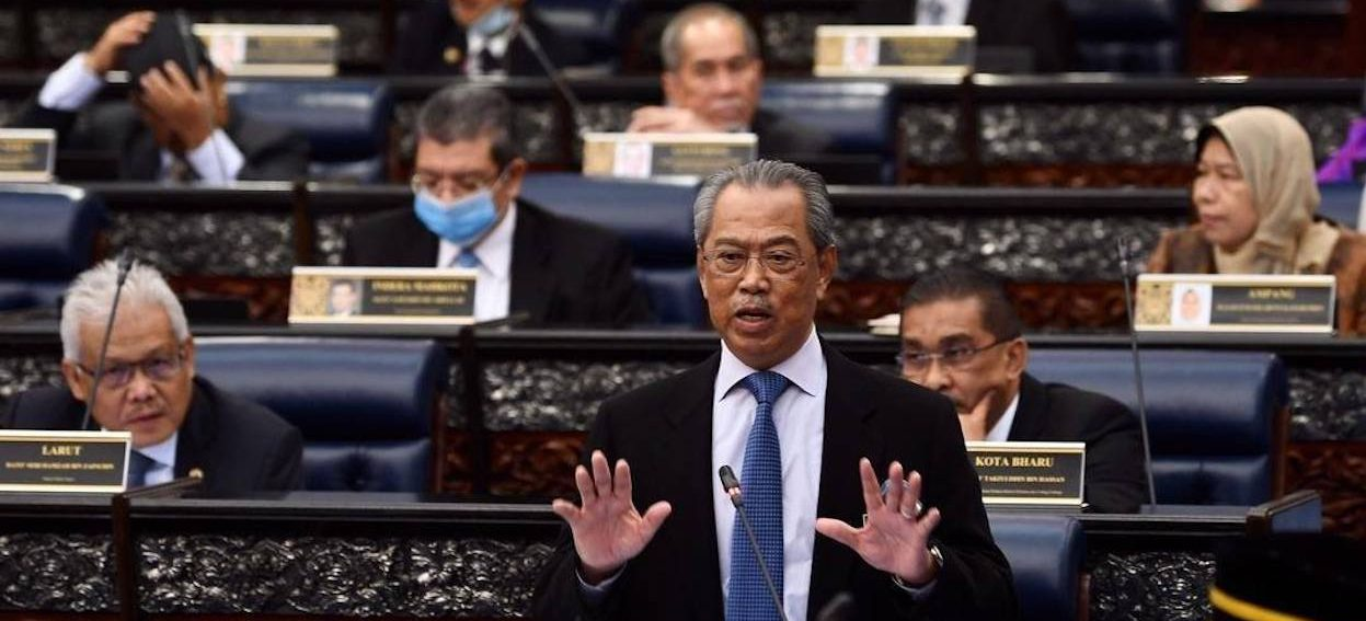 Malaysia's Prime Minister Muhyiddin Yassin speaks at a Parliament session at lower house in Kuala Lumpur, Malaysia, on 13 July 2020. (Photo: Muhyiddin Yassin/ Facebook)