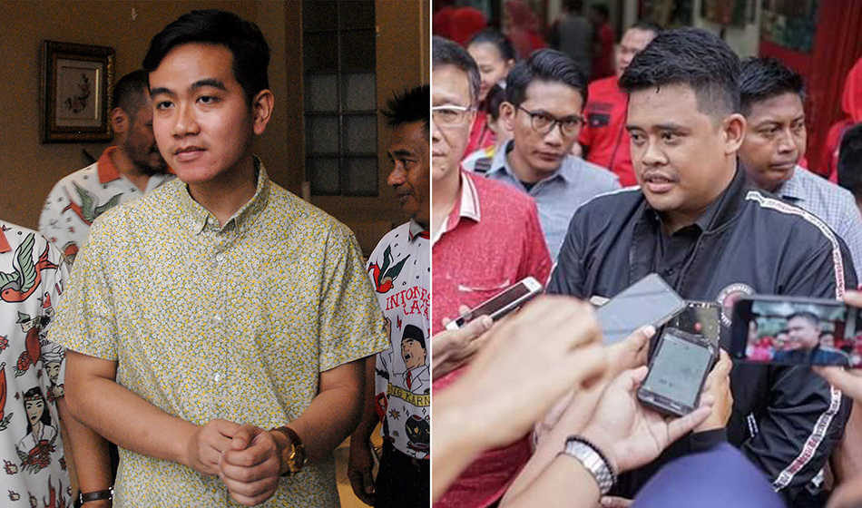 Gibran Rakabuming Raka and Bobby Nasution
