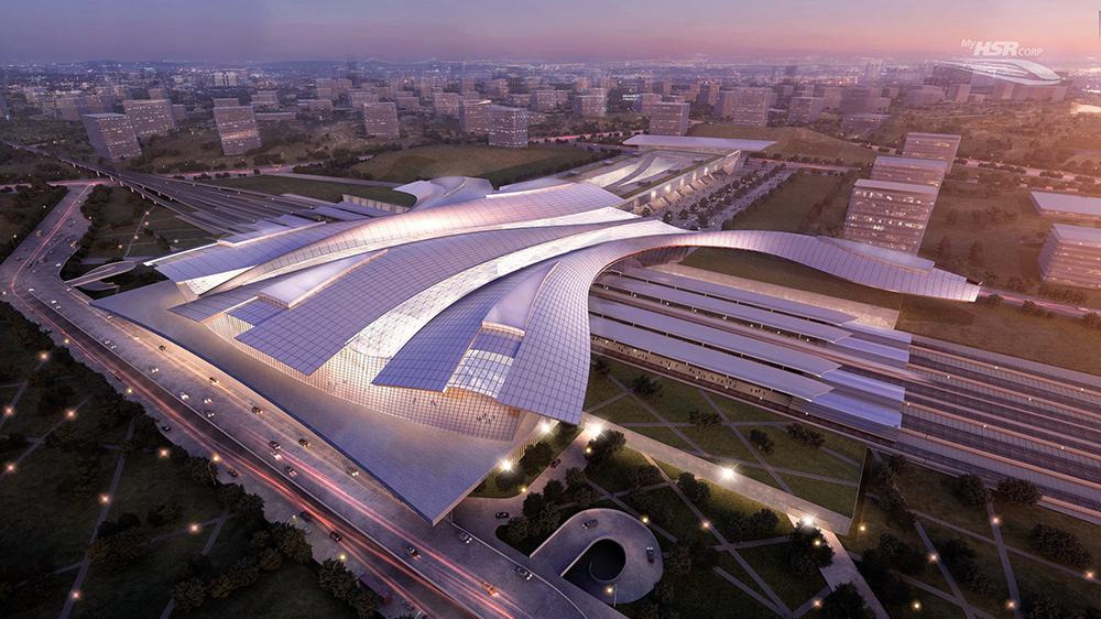 An artist's impression of a KL-Singapore HighSpeed Rail HSR station
