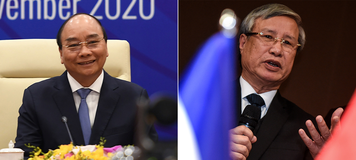 Prime Minister Nguyen Xuan Phuc and Tran Quoc Vuong
