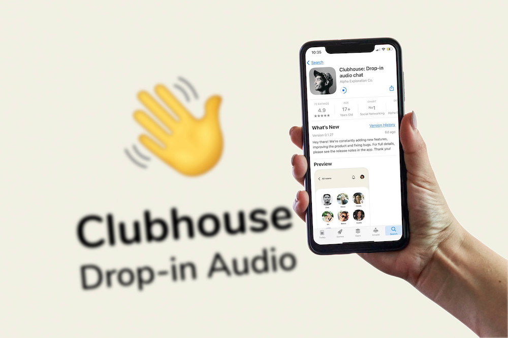 A photo of the Clubhouse application on a smartphone on 15 February, 2021. (Photo: Marco VERCH/ Flickr)