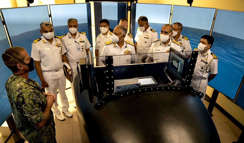 Officer-in-charge of Naval Submarine Training Center Pacific Host Indian Navy in Guam