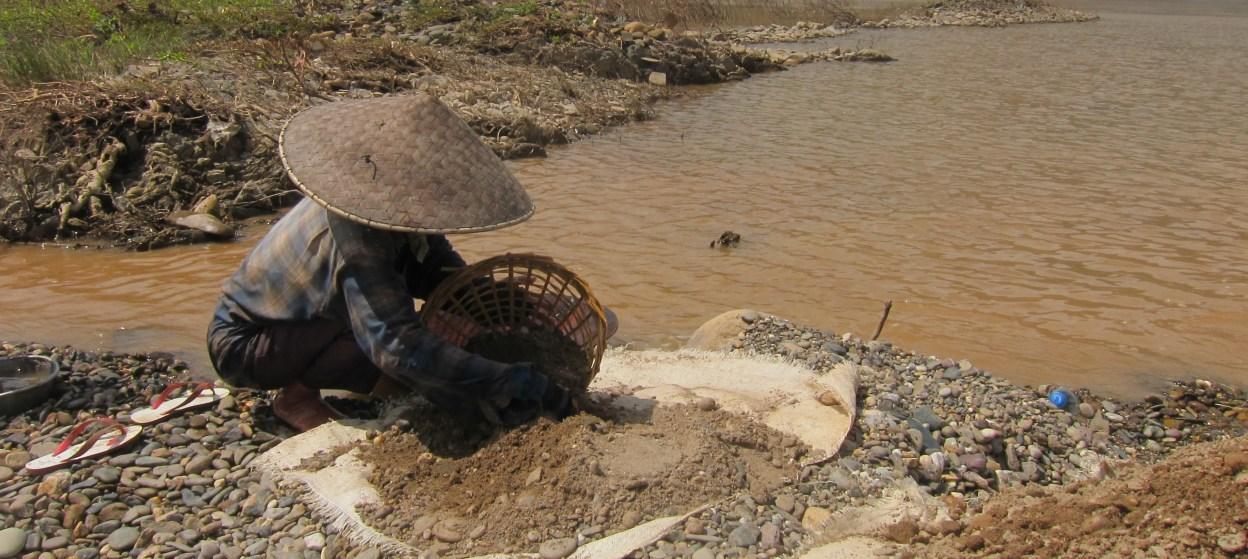 A photo of the Xayaburi Dam site