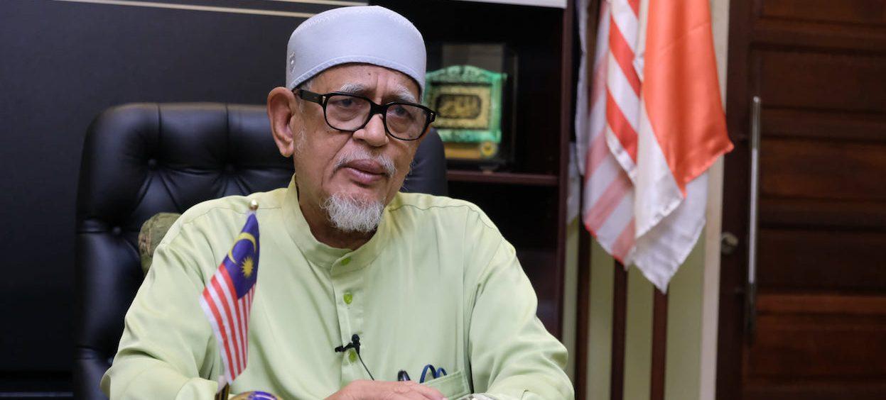 Hadi Awang delivering a speech on the occasion of the Badar Al-Kubra on 30 April, 2021. (Photo: Dato' Seri Tuan Guru Jaji Abdul Hadi Awang/ Facebook)