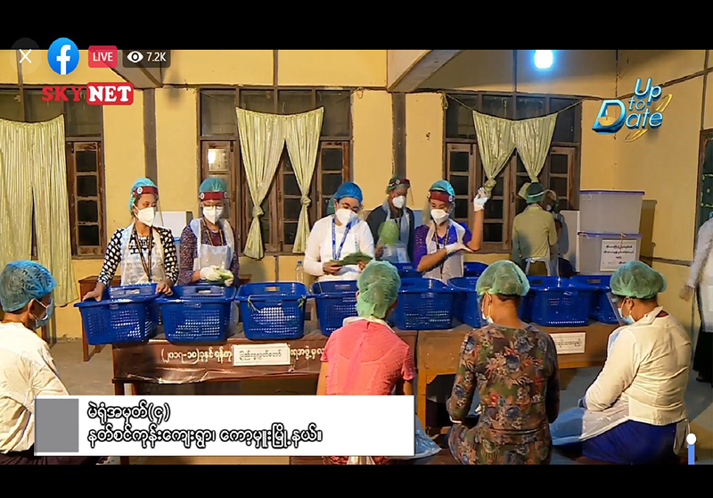 Vote-counting in Kawhmu Township Screenshot from Facebook