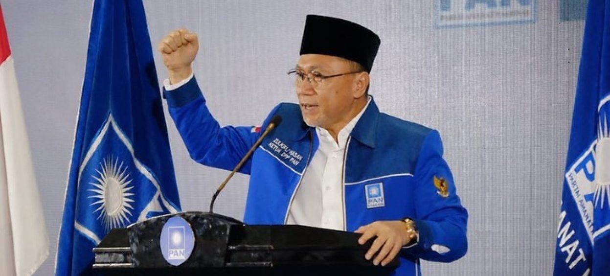 PAN's leader Zulkifli Hasan at an event celebrating PAN's 23rd anniversary on 23 August, 2021. (Photo: Partai Amanat Nasional – PAN/ Facebook)
