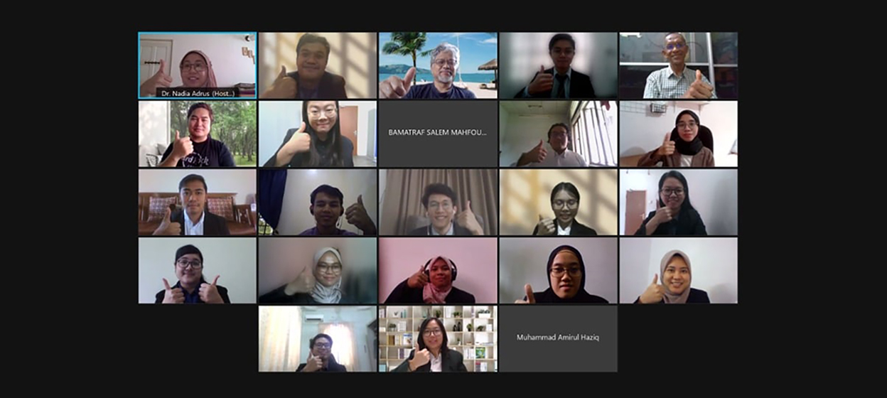 A screenshot from an online meeting from the School of Chemical and Engineering from Universiti Teknologi Malaysia during the Plant Design Project Competition on 4 July, 2021. (Photo School of Chemical and Energy Engineering UTM/ Facebook)