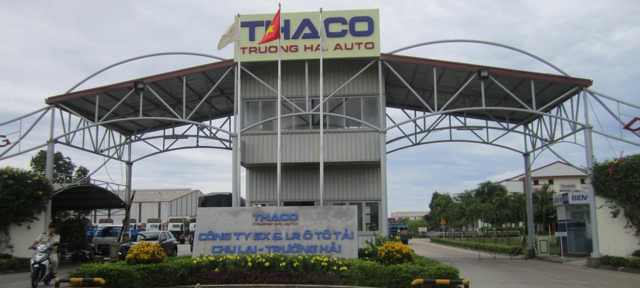 A Thaco showroom in Danang, Vietnam.